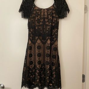 For love and lemons low back lace dress size M